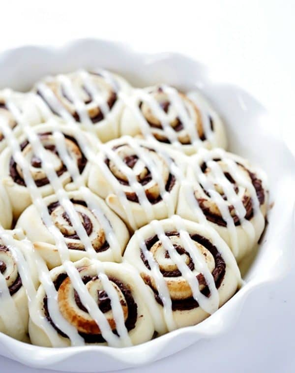 1-Hour Nutella Cinnamon Rolls by gimmesomeoven.com
