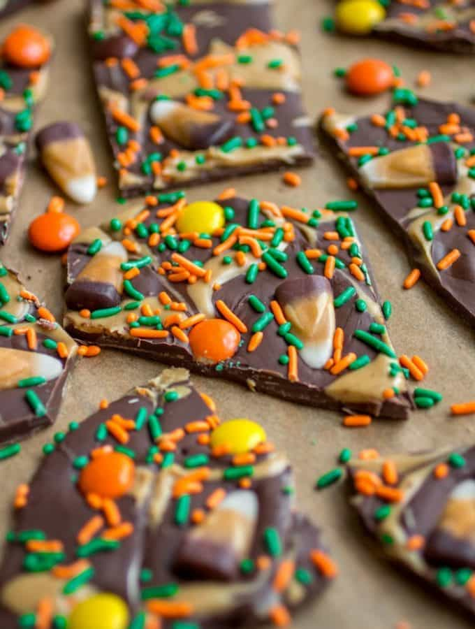 Peanut Butter Candy Corn Bark