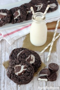 I couldn't think of a better way to enjoy a peppermint patty! These soft baked Melted Peppermint Patty Cookies are drool worthy!