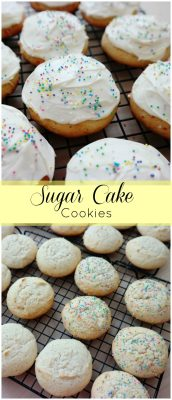 Sugar Cake Cookies-this recipe is everything you love about cake, in a cookie! These cookies are the muffin tops of the cake world.