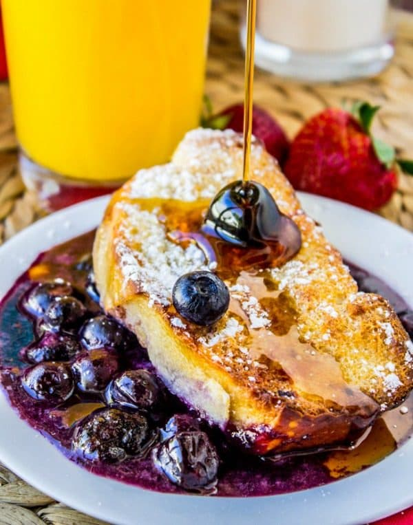 Overnight Blueberry French Toast Casserole by thefoodcharlatan.com