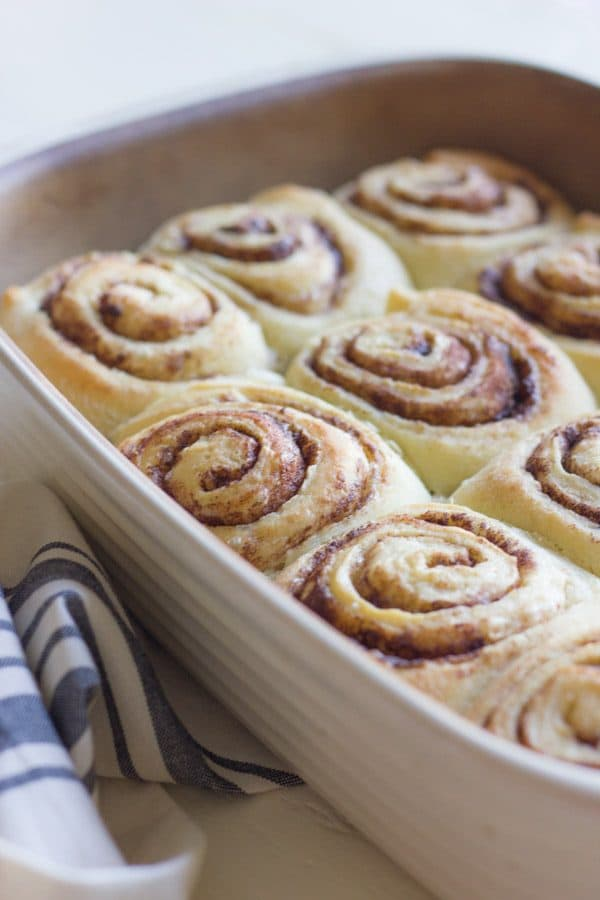 Overnight Cinnamon Rolls by lovelylittlekitchen.com