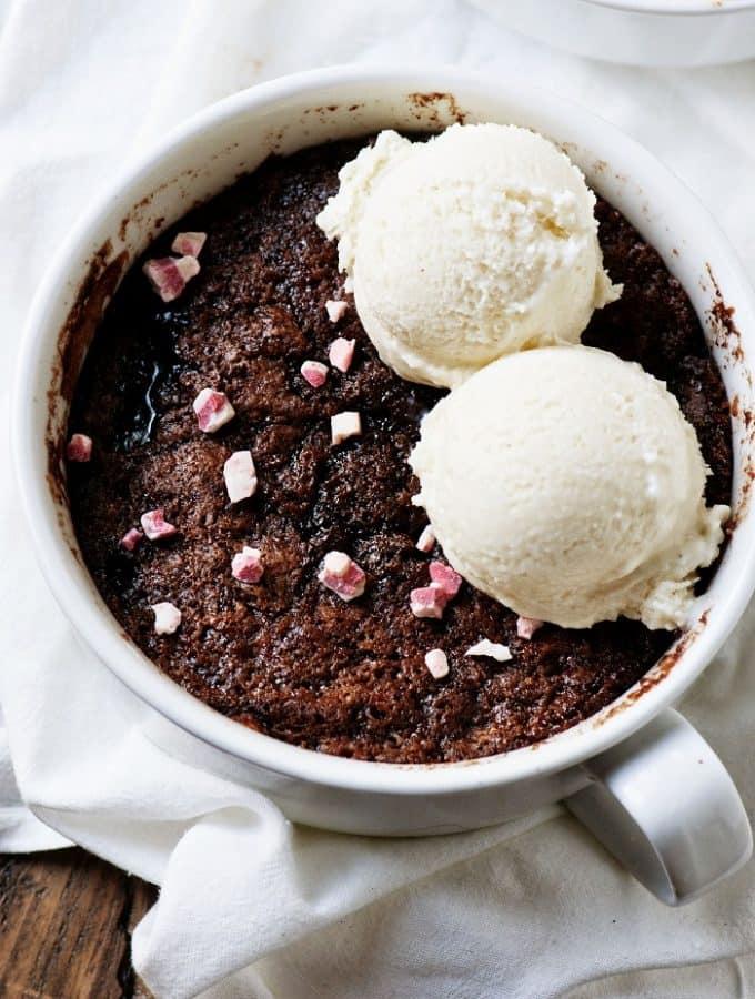 Chocolate Peppermint Cobbler