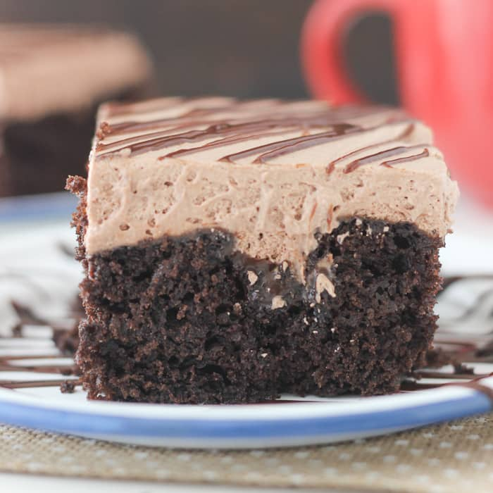 Chocolate Poke Cake Easy