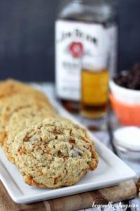 Bourbon Salted Caramel oatmeal cookies_1