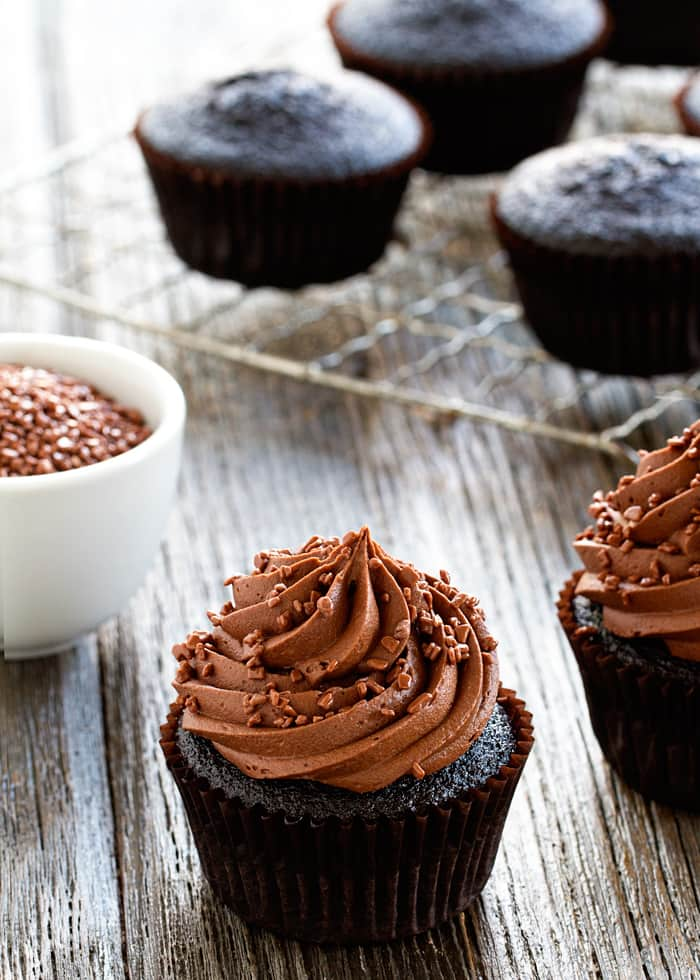 Double Chocolate Cupcakes are perfect for the chocolate lover in your life. They're sure to become a new family favorite!