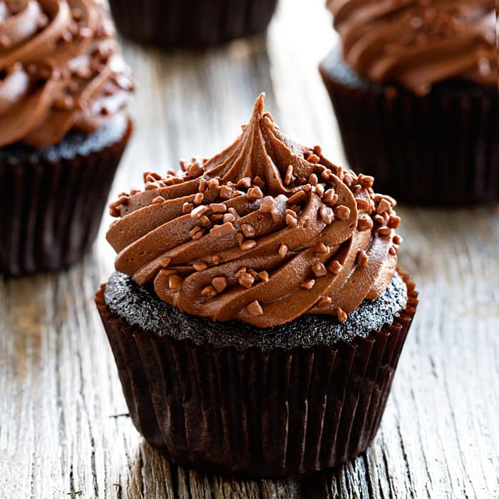 Double Chocolate Cupcakes couldn't be easier or more delicious. Perfect for parties!