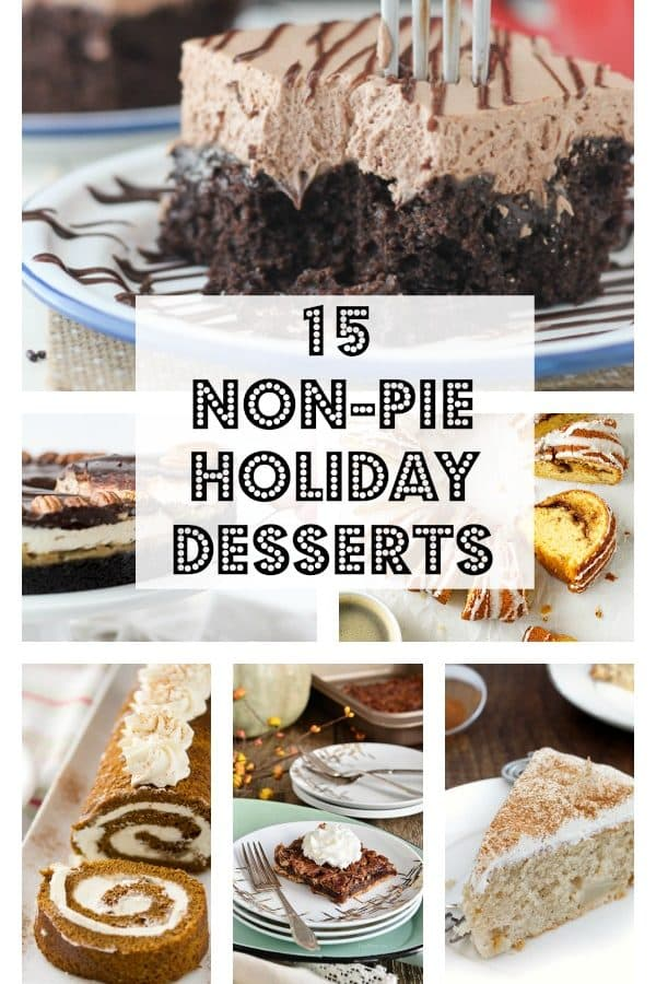 Non-Pie themes holiday desserts