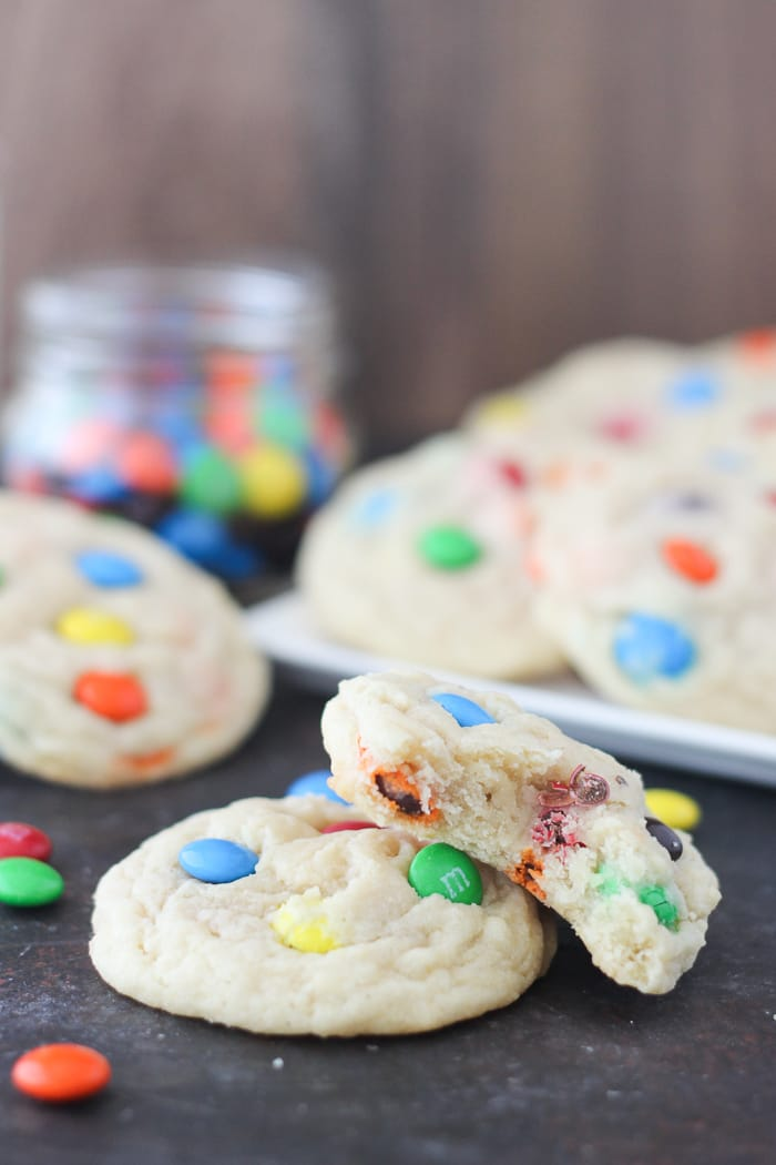 The most perfect MnM Cookies! Crispy on the edges and extra soft and chewy in the middle!