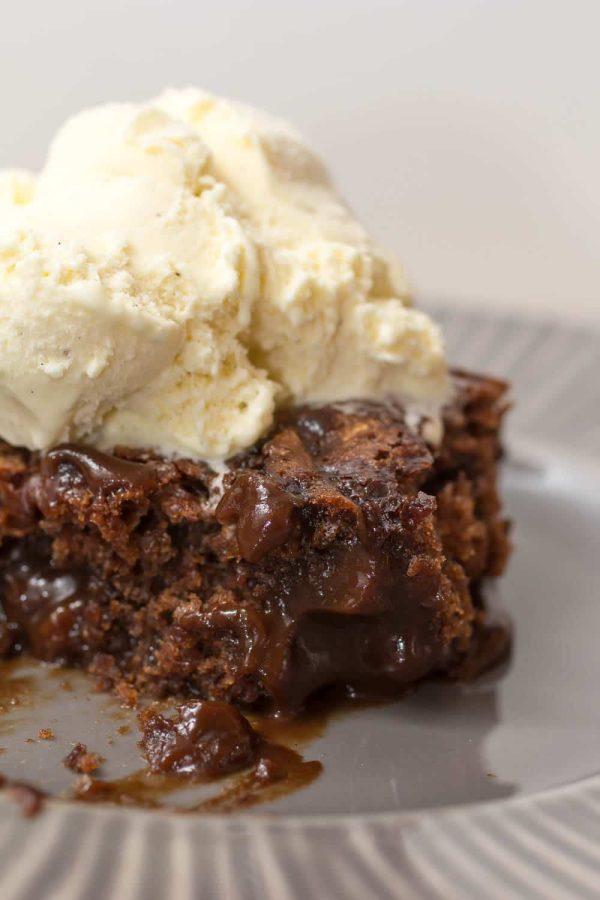 Hot Fudge Brownie Cake