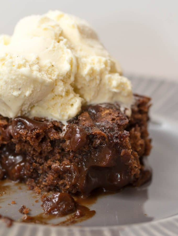 Super Hot Fudge Brownie Cake