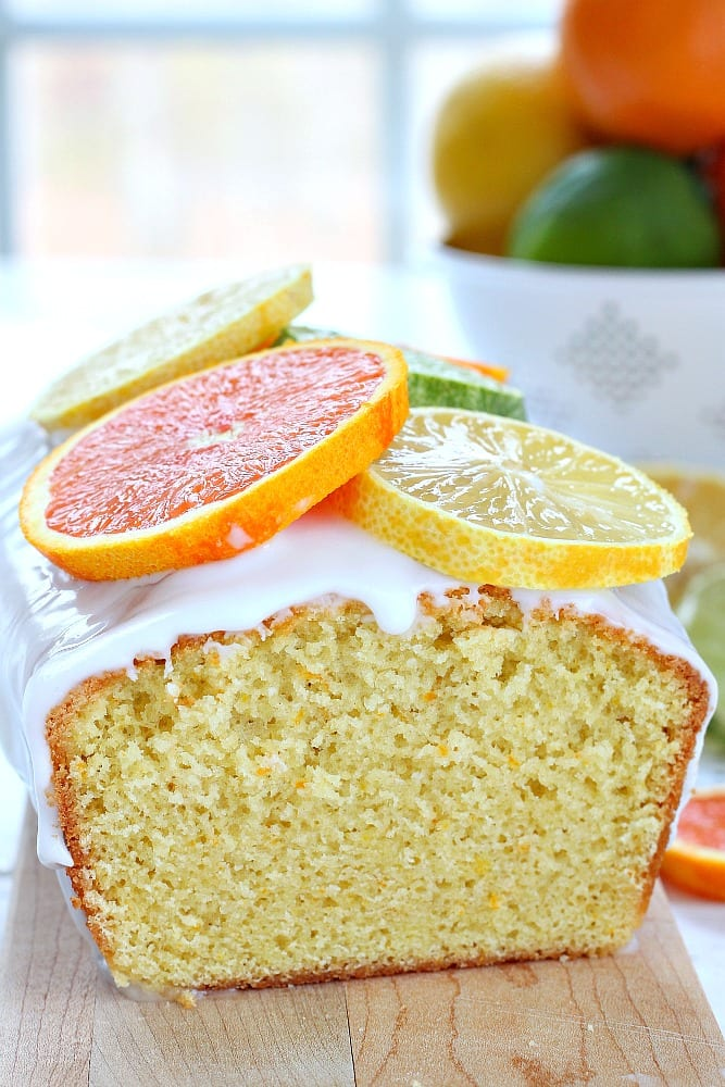 Bursting with citrus flavor from both the extracts and grated peel, this citrus quick bread is soft, summery, and moist without being heavy.