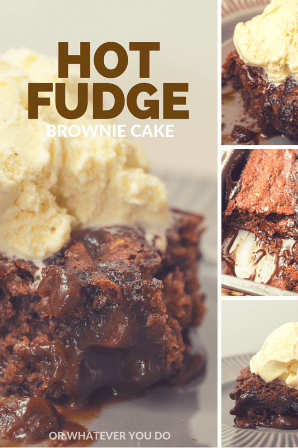 Hot Fudge Brownie Cake