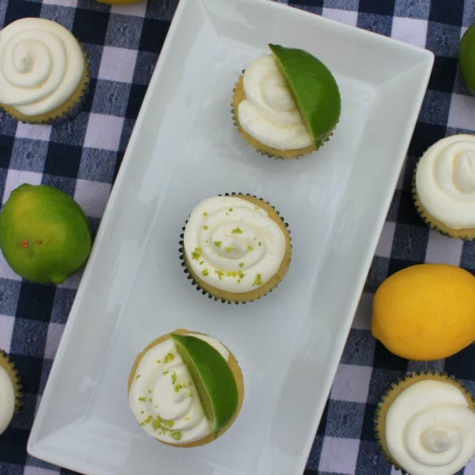 Margarita Cupcakes garnished