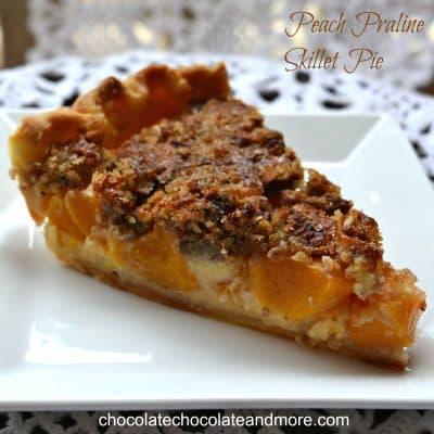 Peach Praline Skillet Pie Slice