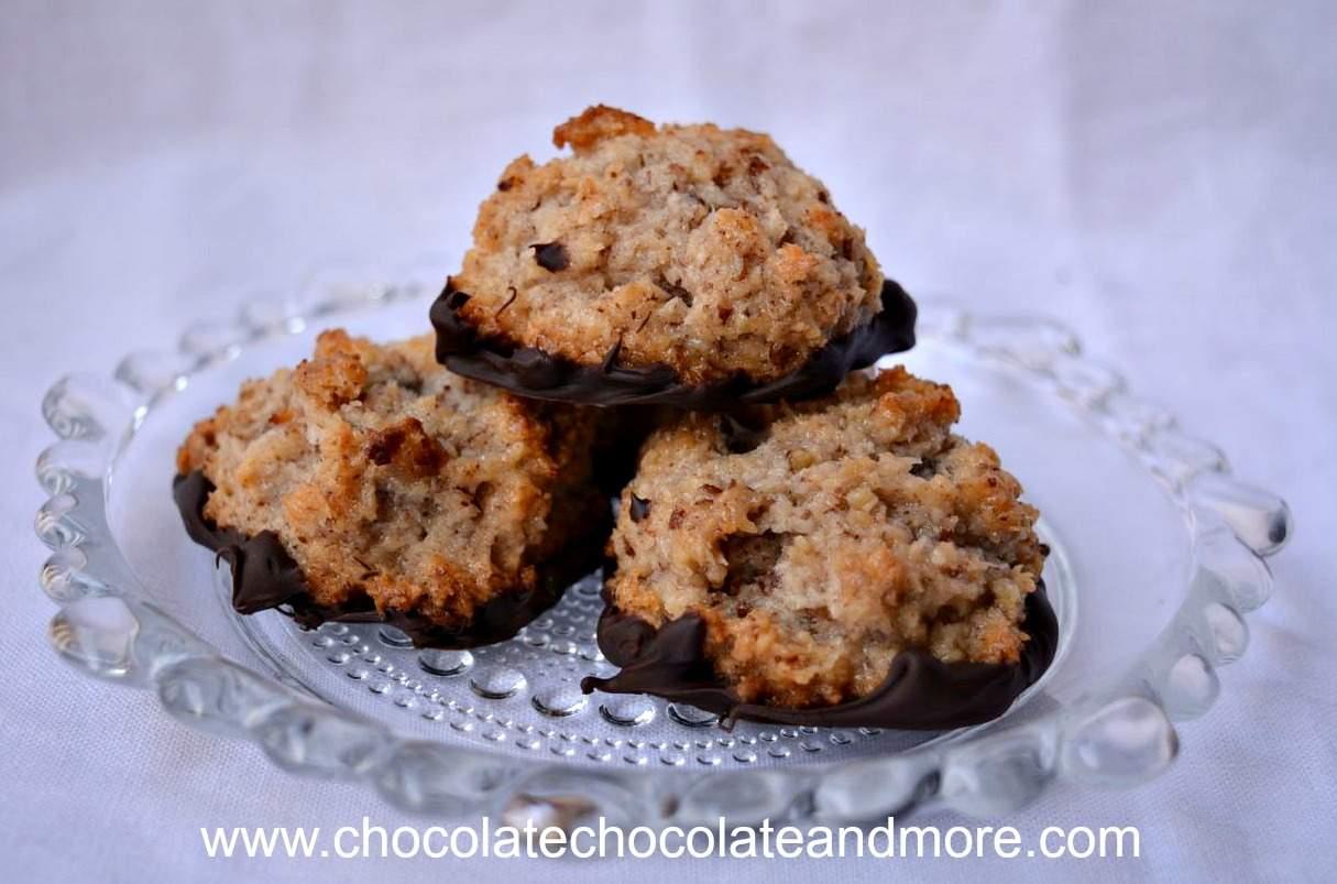 Pecan Macaroons chocolate 2