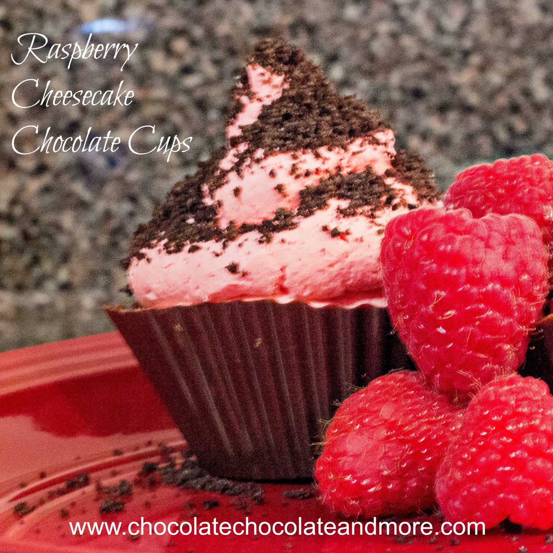 Raspberry Cheescake Chocolate Cups