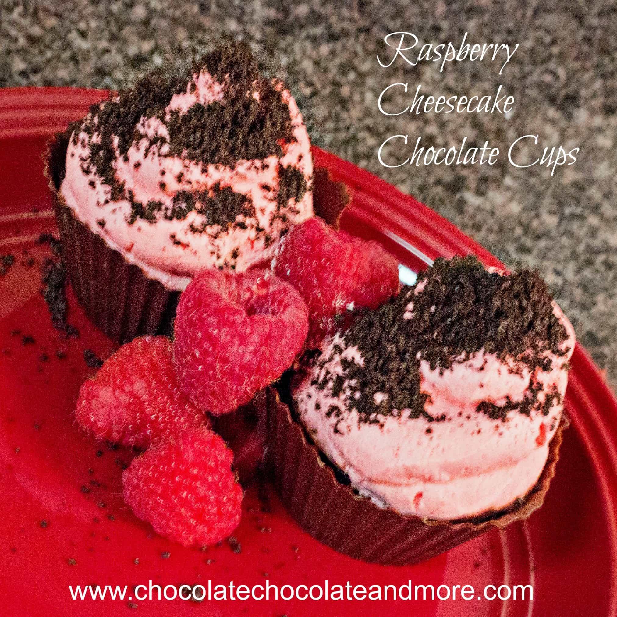 Raspberry Cheesecake Chocolate Cups