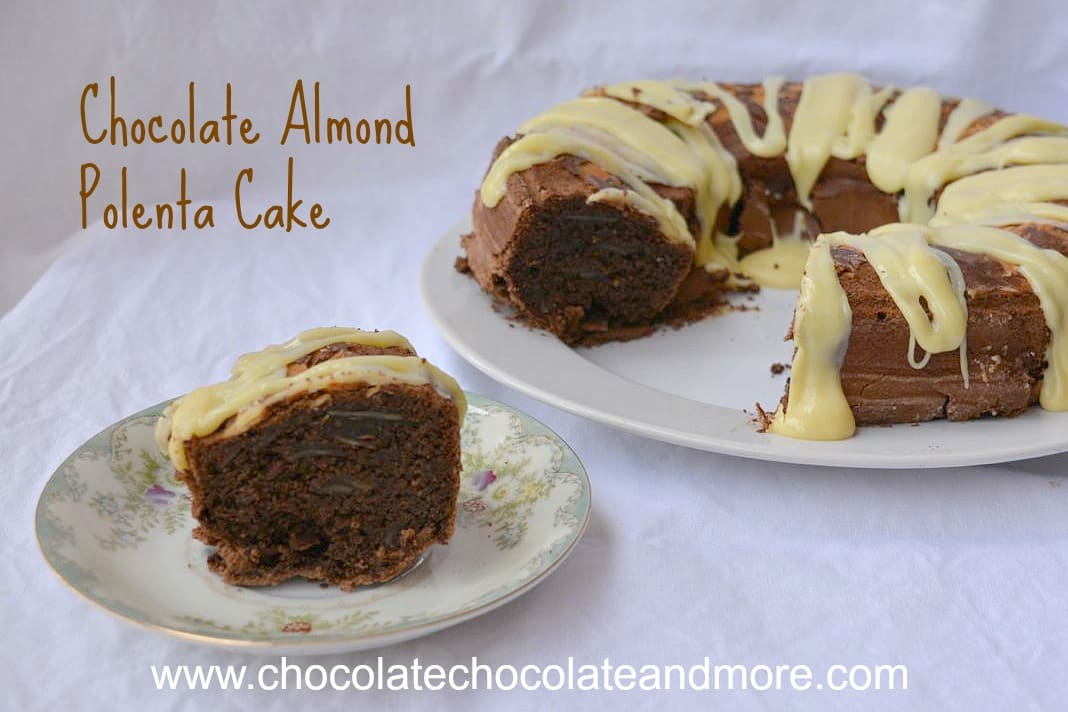 Chocolate Almond Polenta Cake