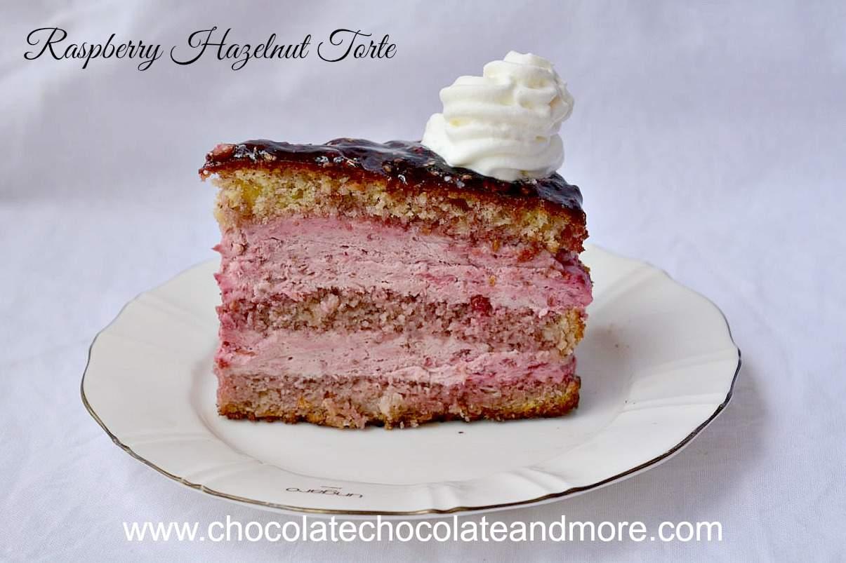 Raspberry Hazelnut Torte - Chocolate Chocolate and More!