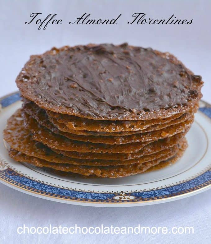 Toffee Almond Florentines