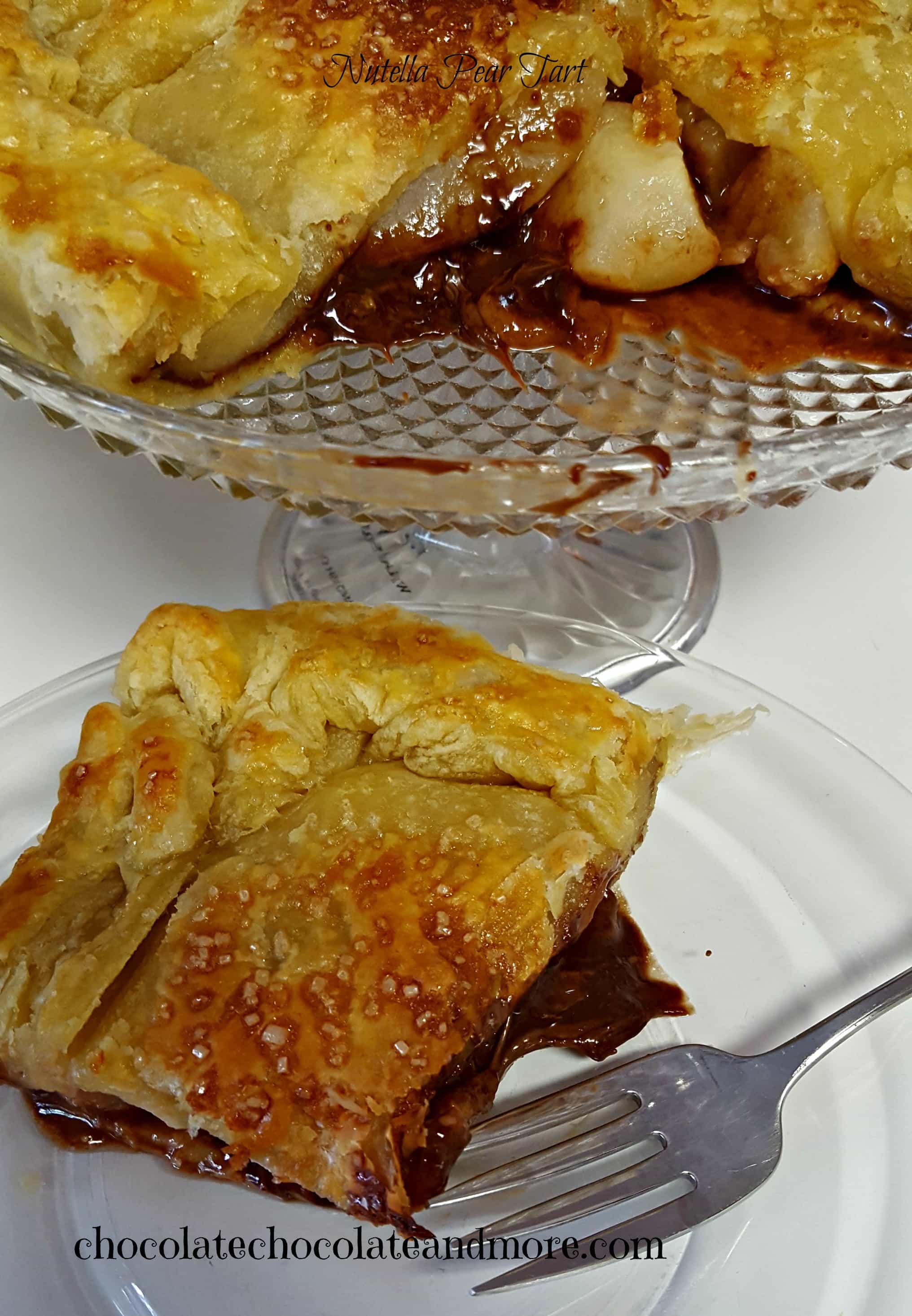 Nutella Pear Tart