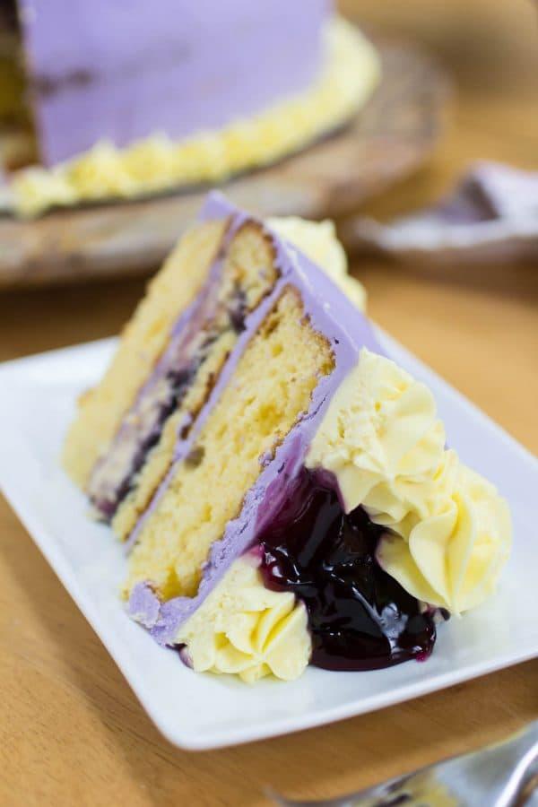 Spring Blueberry Lemon Pudding Cheesecake Cake-91
