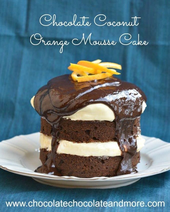 Chocolate Coconut Orange Mousse Cake
