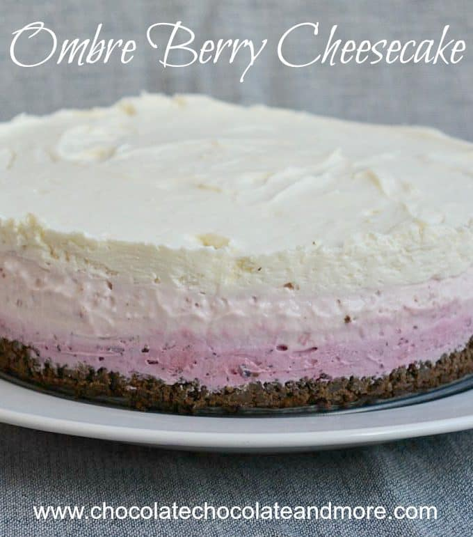 Ombre Berry Cheesecake
