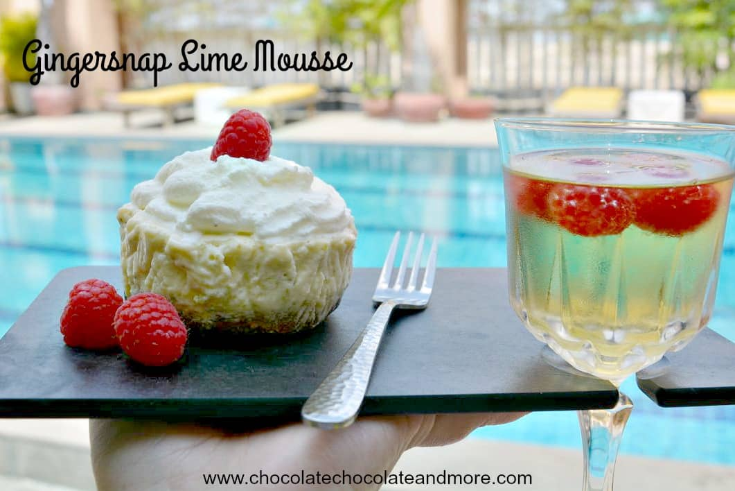 Gingersnap Lime Mousse Pooled