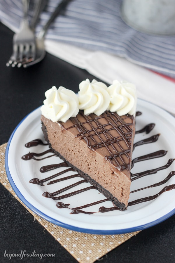 No-Bake Brownie Batter Cheesecake