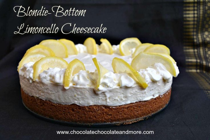 Blondie-Bottom Limoncello Cheesecake