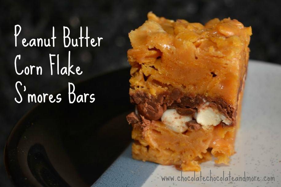 Peanut Butter Corn Flake Smores Bars Slice