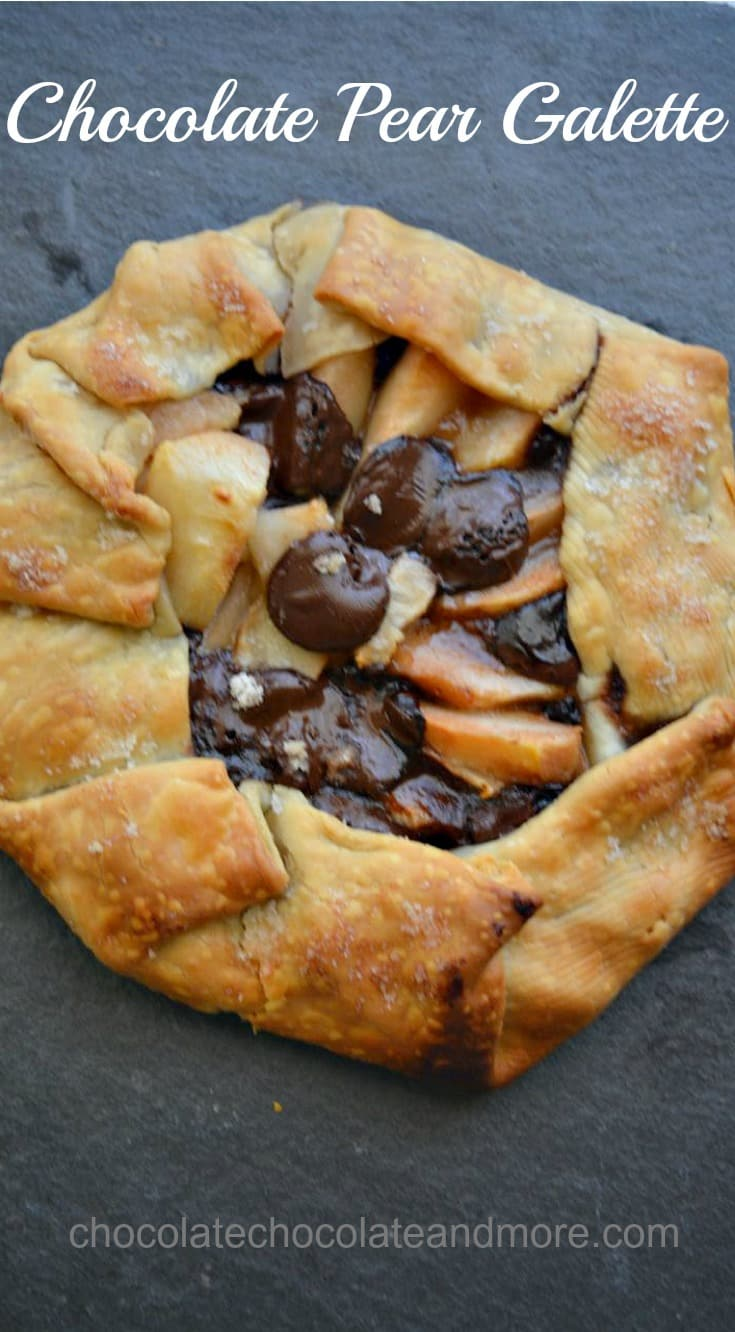 chocolate pear galette