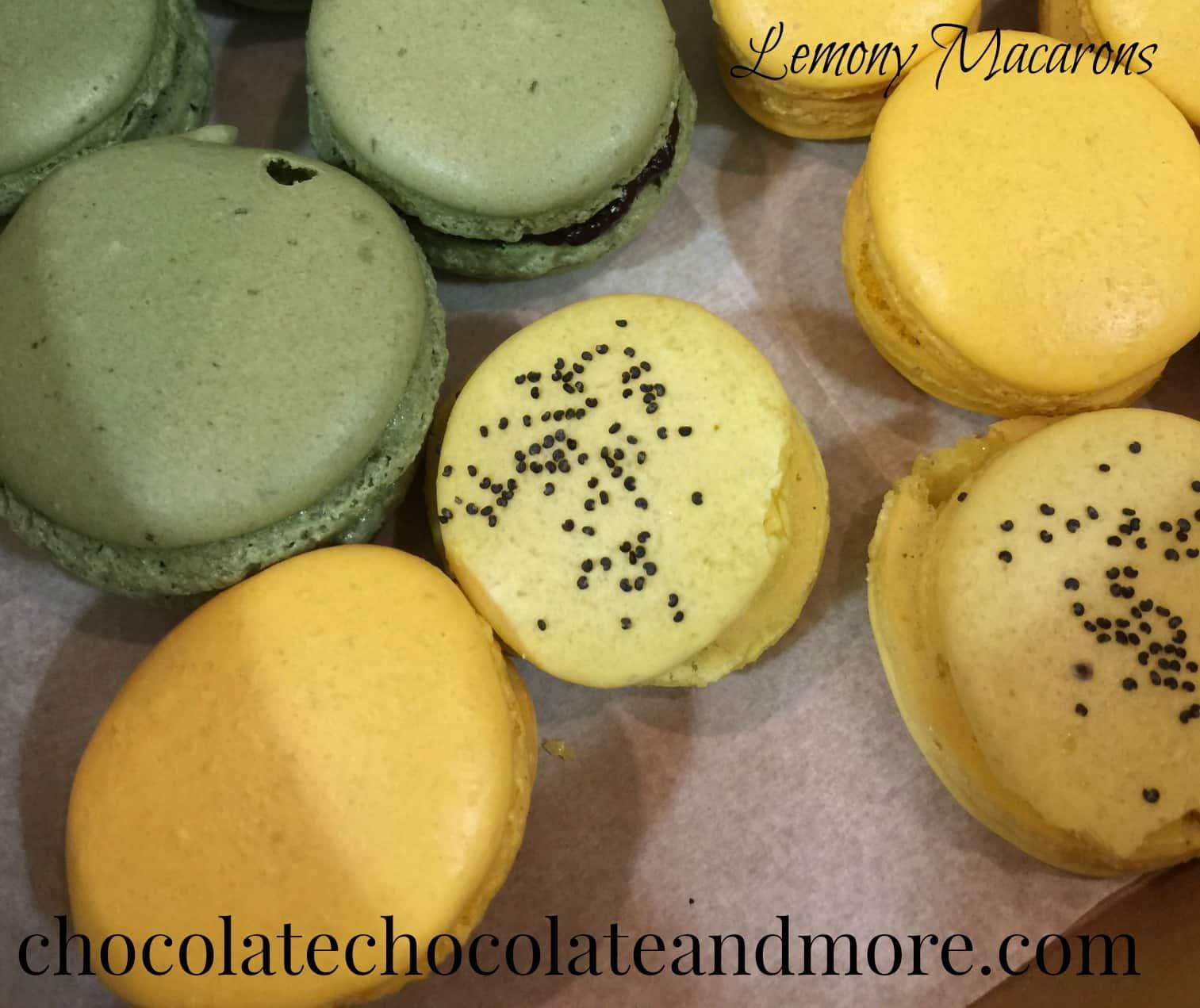 Lemony Macarons