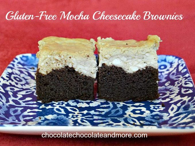 Gluten Free Mocha Cheesecake Brownies
