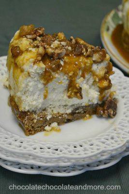 Blondie Bottom Caramel Praline Cheesecake