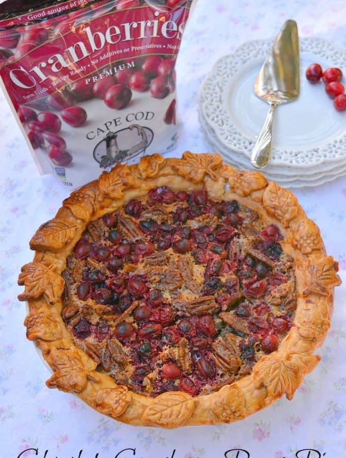 Cranberry Chocolate Pecan Pie