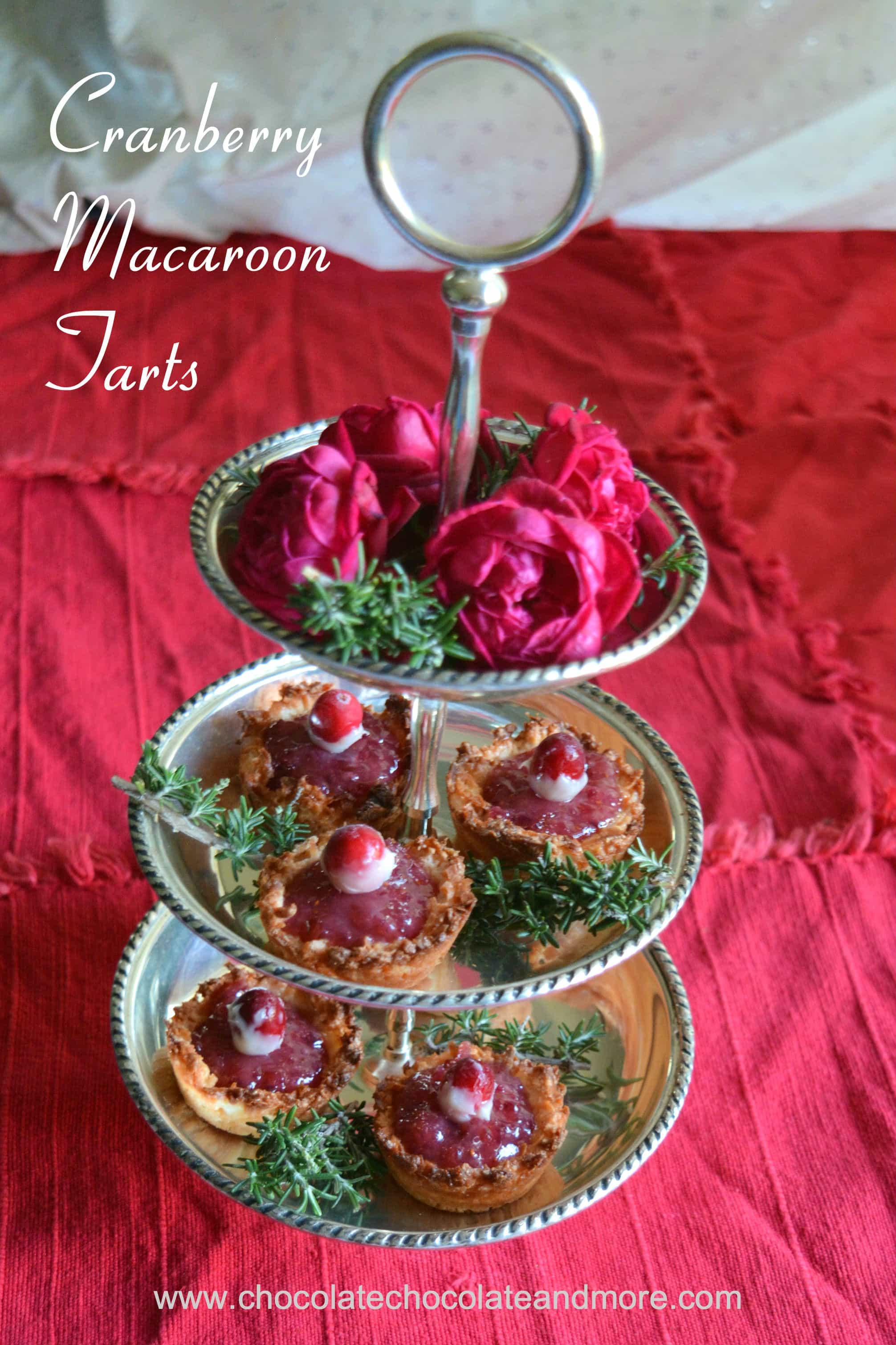 Cranberry Macaroon Tarts