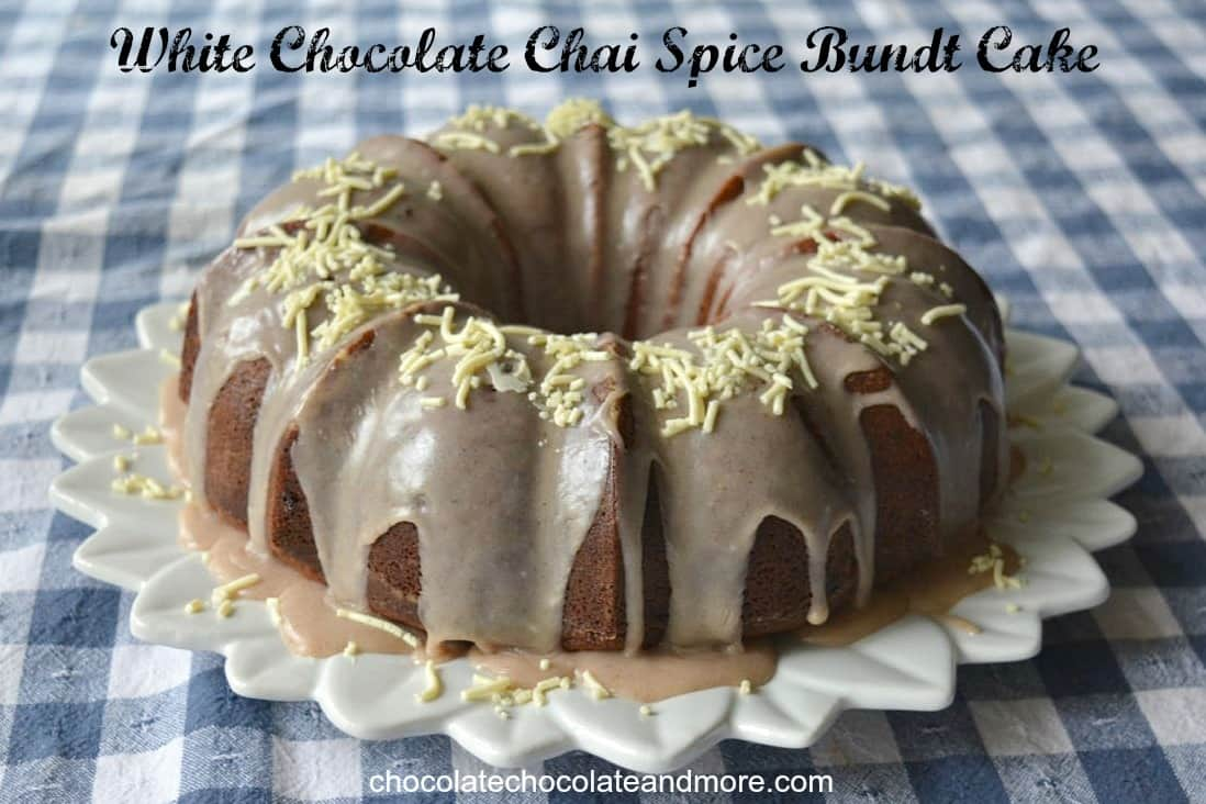 White Chocolate Chai Spice Bundt Cake