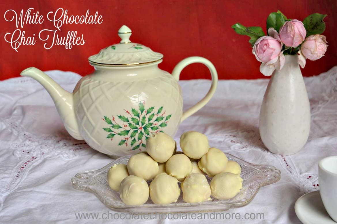 white chocolate chai truffles