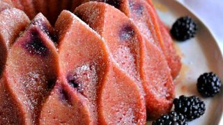 Grapefruit Blackberry Bundt Cake