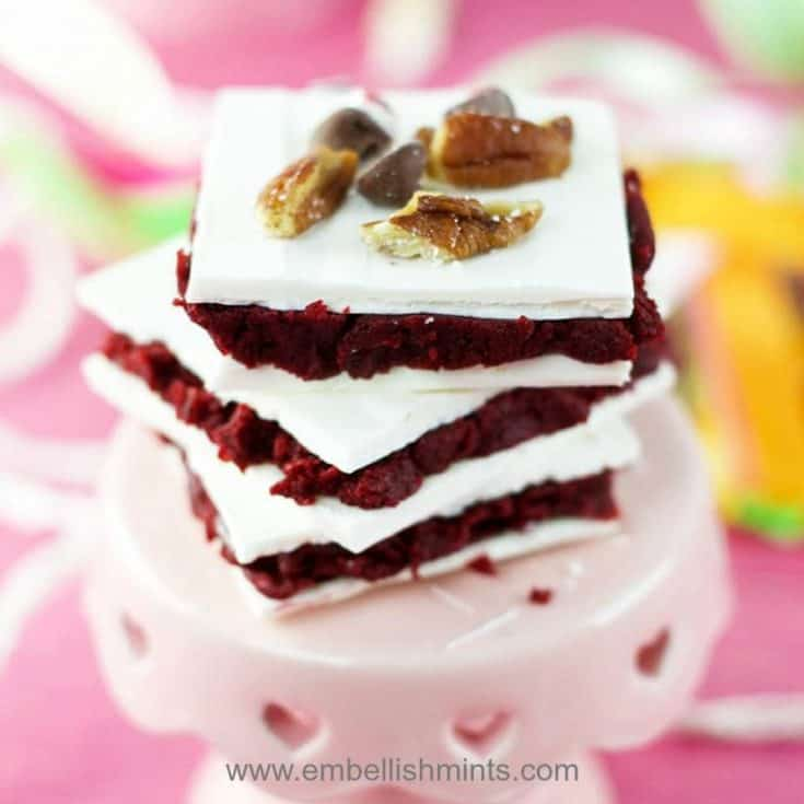 Red Velvet Truffle Bars