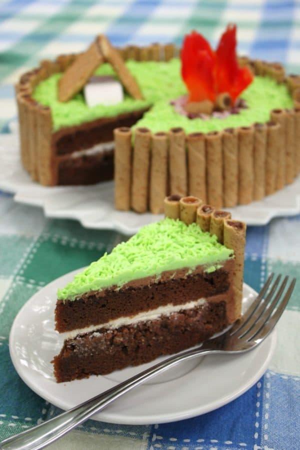 Slice of Camping Cake