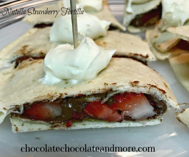 Nutella Strawberry Tortilla