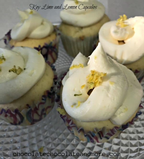 Key lime lemon cupcakes