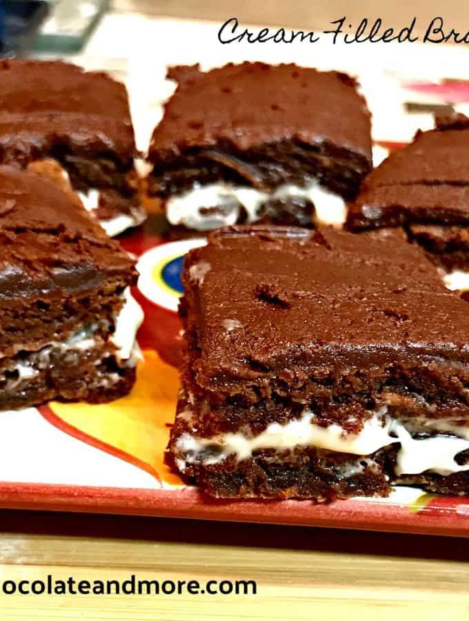 Cream Filled Brownie Bites