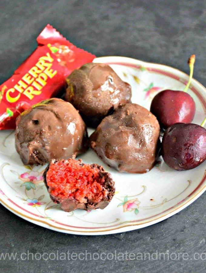 Easy Cherry Ripe Truffles