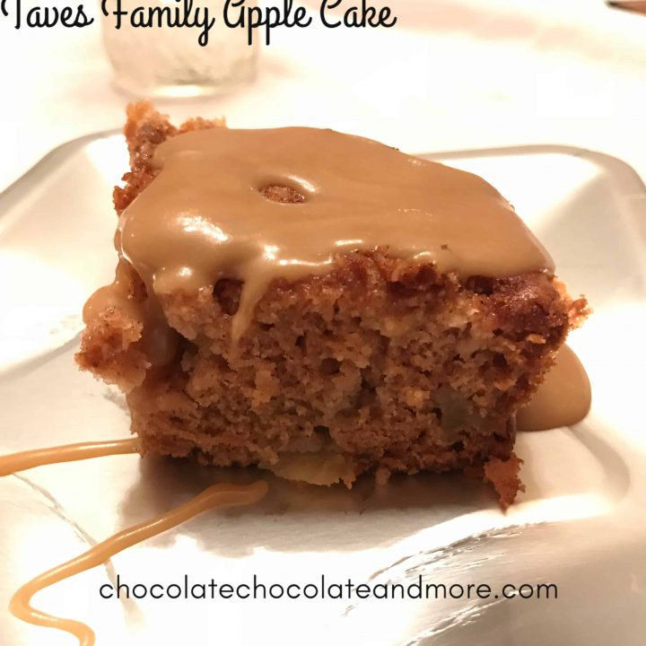 Taves Family Apple Cake with Caramel Drizzle