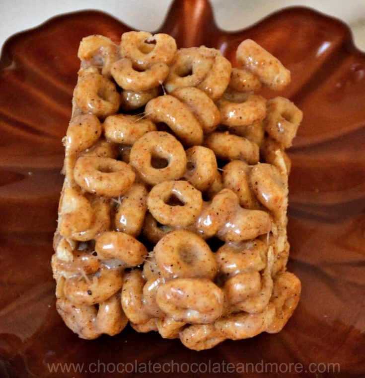 Pumpkin Spice Cereal Squares